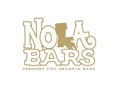 NOLA Bars - New Orleans Inspired Granola Bars branding packaging new orleans granola bars