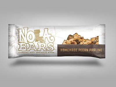 NOLA Bars - New Orleans Inspired Granola Bars illustration product packaging granola bars new orleans