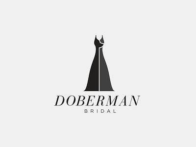Doberman Bridal Logo doberman dog dress gown bridal wedding experimental accident