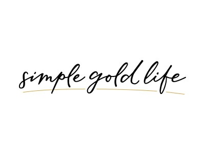 Simplegoldlife Logo logo design hand lettered branding graphic design