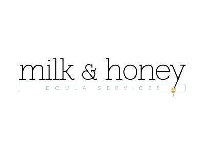 Milk and Honey Logo logo deisgn design logo brand identity brand