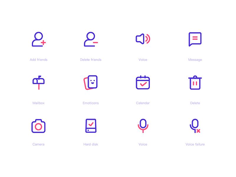 Icon design 02 app dichromatic design icon