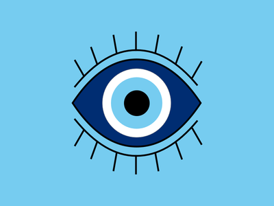 Evil Eye illustration the100dayproject creativemornings 100daysofillustration 100daysproject eye