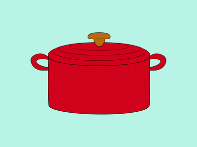 Dutch Oven oven cooking kitchen 100daysofcmbos illustration creativemornings 100daysproject 100daysofillustration