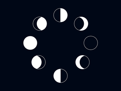 Moon Phases illustration moon 100daysofcmbos creativemornings 100daysproject 100daysofillustration