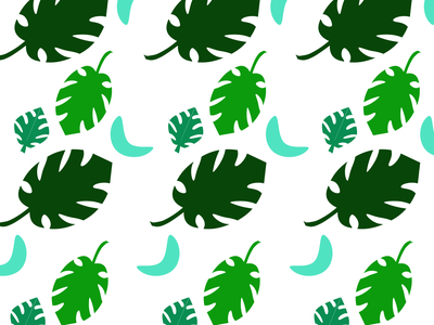 Monstera Print patterns monstera plant 100daysofcmbos illustration creativemornings 100daysproject 100daysofillustration