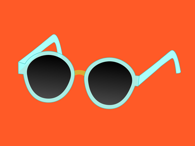 Retro Sunnies vacation glasses sunglasses illustration 100daysofcmbos 100daysproject 100daysofillustration
