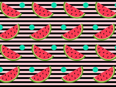 Watermelon Season picnic summertime summer watermelon pattern design patterns illustration 100daysofcmbos 100daysproject 100daysofillustration