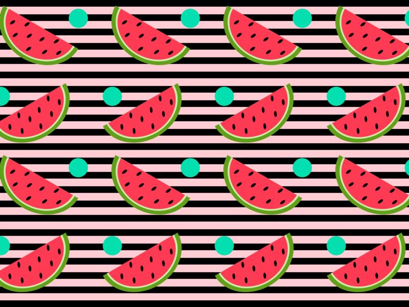 Watermelon Season picnic summertime summer watermelon pattern design patterns illustration 100daysofcmbos 100daysproject 100daysofillustration