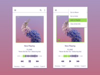 DailyUI #009 Music Player