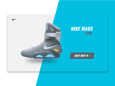 Single Product Page shot shoes nike dailyui