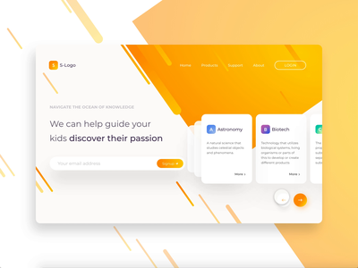 Landing Page with card interaction webdesign button interaction micro interaction interaction design adobexd landingpage