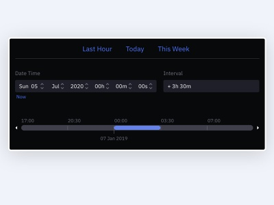 Time Range Selector adobexd product design web design uidesign interaction design uxdesign