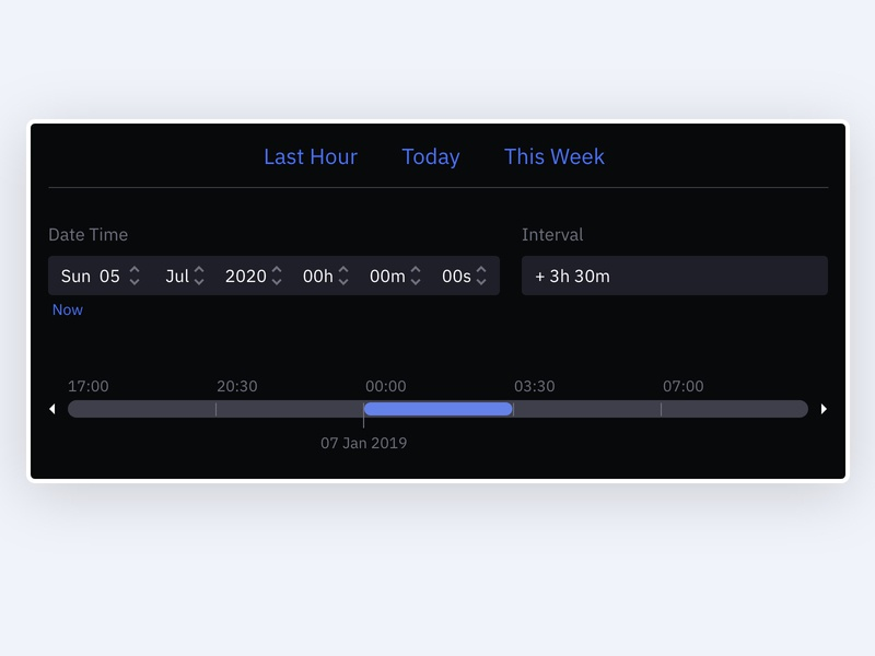 Time Range Selector adobexd product design web design uidesign interaction design uxdesign