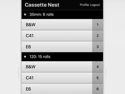 Cassette Nest Inventory Page Prototype