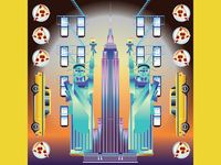 Illustrated cities - New York, USA