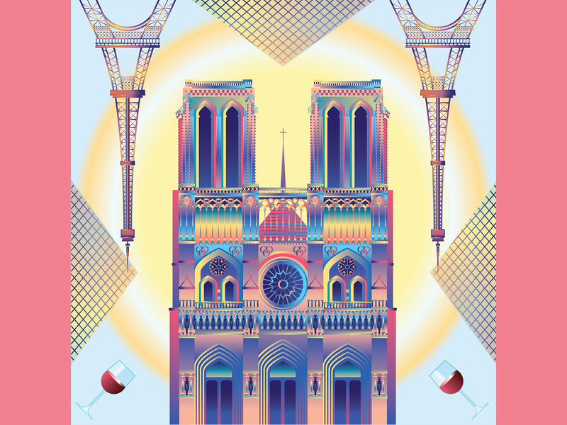 Illustrated cities - Paris, France