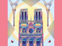 Illustrated cities - Paris, France