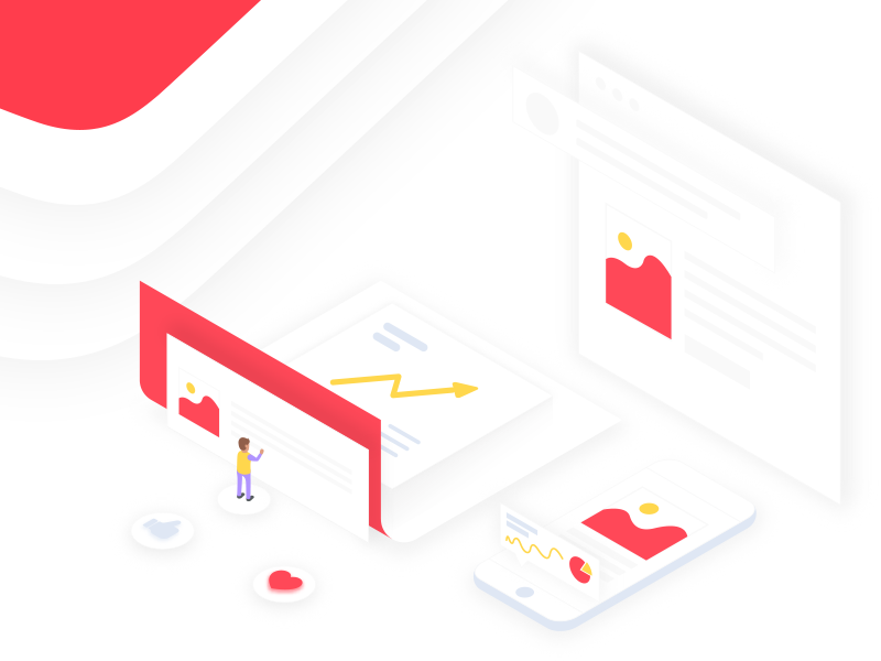 Isometric Illustration for Digital Marketing Agency website ux ui page landing isometric illustration agency marketing digital