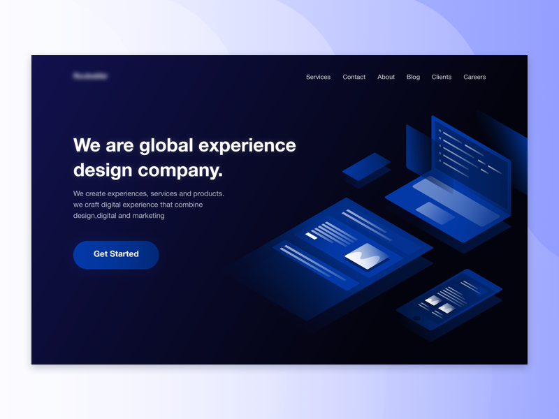 Landing Page for a Product Design and Development Agency. website design web ui agency development product page landing illustration homepage flat