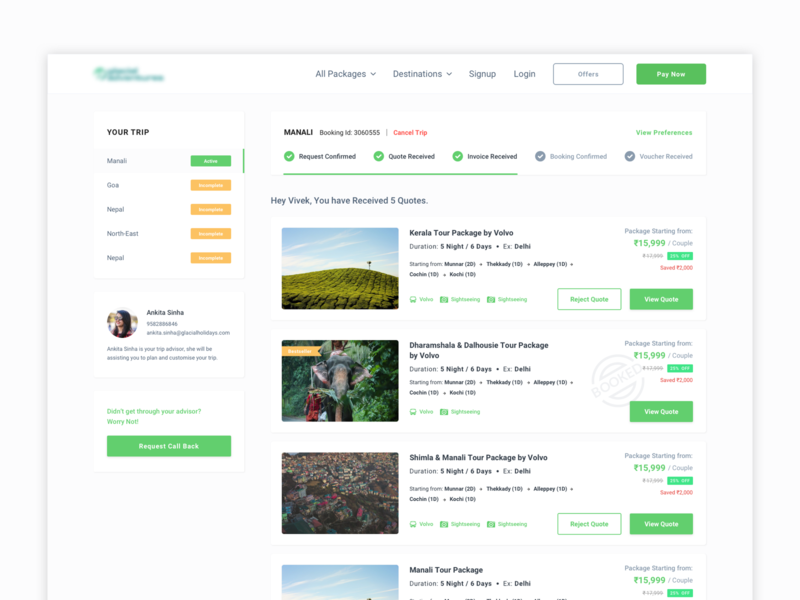 Listing Page sketch dribbble web card ux interaction ui website tour travel status