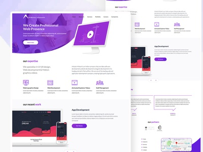 Web Development Agency Website business company homepage app website webdesign uiux ux ui
