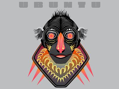 Ubuntu ubuntu linux typography illustrator design illustration vector