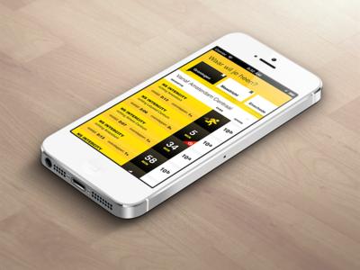 Interface SnelTrein app interface design mobile app public transport ux ui