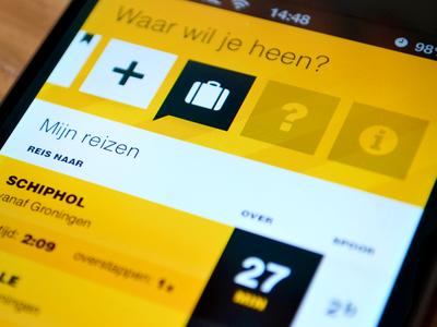 SnelTrein interface design: My travels design interface mobile public transport ui ux