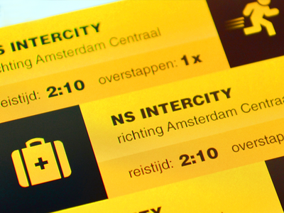 SnelTrein interface design: Saving a travel option design interface mobile public transport ui ux