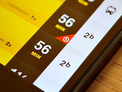 SnelTrein interface design: Details (delay, bus transfer) design interface mobile public transport ui ux