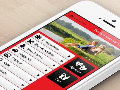 Design mobile app Drenthe ui ux mobile iphone design