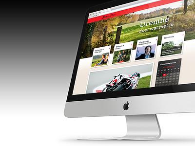Design Drenthe.nl website design web website ui ux