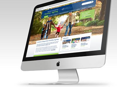 Design Healthy Ageing website design website ui ux site