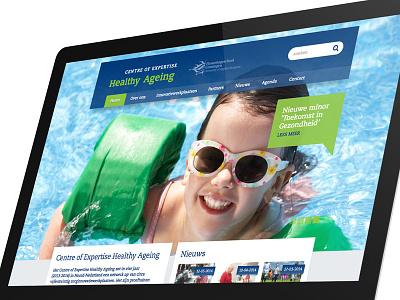 Healthy Ageing website graphic design web website ui ux