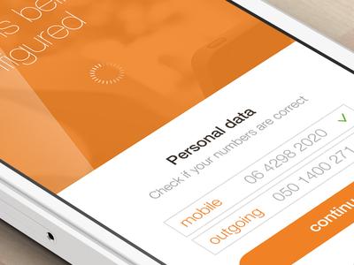 SIP app interface design design ui ux mobile iphone