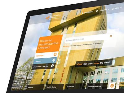 Hanze.nl 2.0 ui ux web design platform university concept prototype