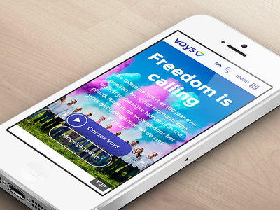 Voys mobile homepage voys interface iphone mobile homepage