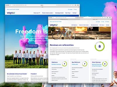 New voys.nl desktop website voys webdesign responsive homepage reviews
