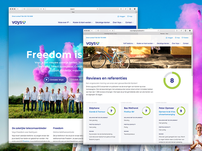 New voys.nl desktop website voys webdesign responsive homepage reviews