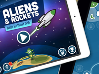 Aliens & Rockets game animation interaction interface ux ui ipad game