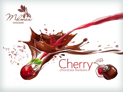 illustration and package design for Cherry bonbons