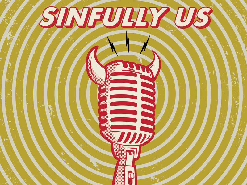 Sinfully Us Podcast fan art design devil horns devil podcast sin