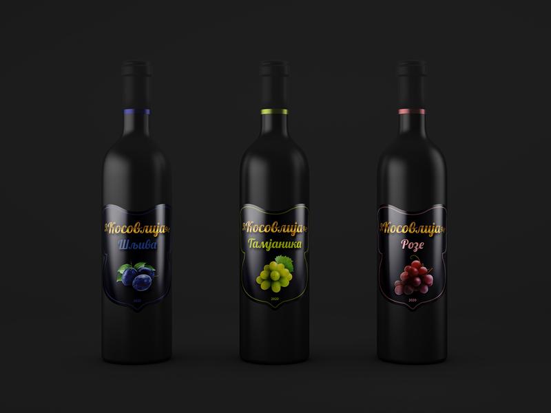Kosovlija - wine etiquette