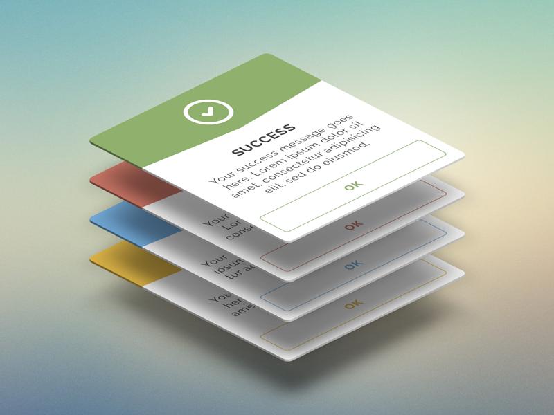 Feedback dialogs collection - FREE PSD dialog feedback flat mobile desktop free freebie psd app android ios modal
