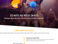 Landing page for Rock in Rio event