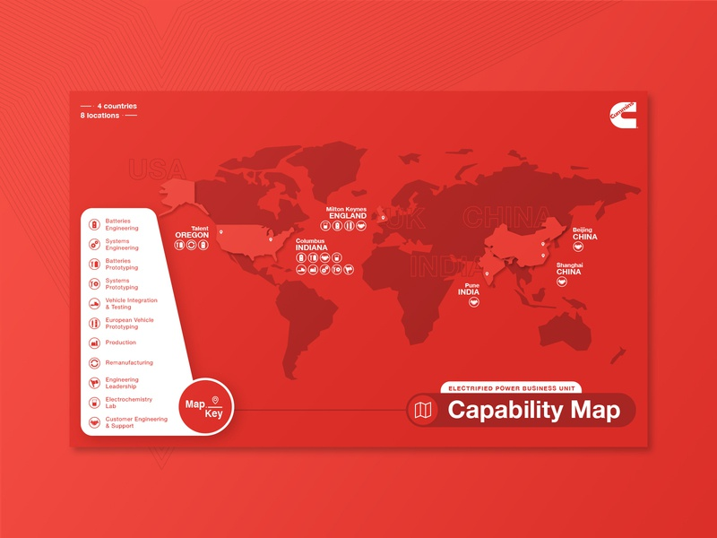 Capability Map icons corporate illustrator map
