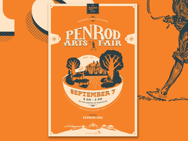 Penrod Concept event design illustraion print agency