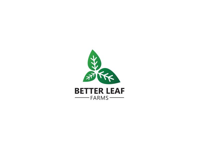 Logo for Better leaf farms creativity creation illustration identity brand natural farms design logo