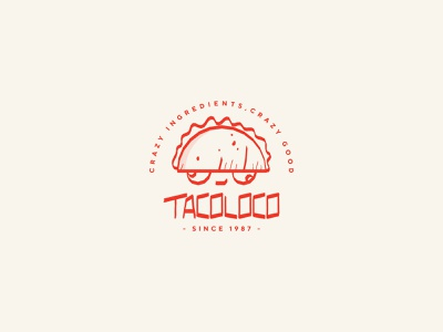 Tacoloco Food Truck brand identity brand design food logo food trucks food truck food crazy loco tacos taco freehand drawing illustration branding designer daily logo challenge logo a day logo logotypedesign logotype branding design branding